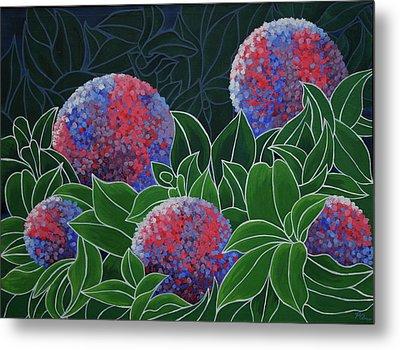 Metal Print featuring the painting Hydrangea Grandiflora by Paul Amaranto