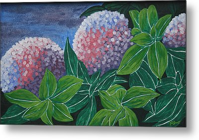 Metal Print featuring the painting Hydrangea by Paul Amaranto