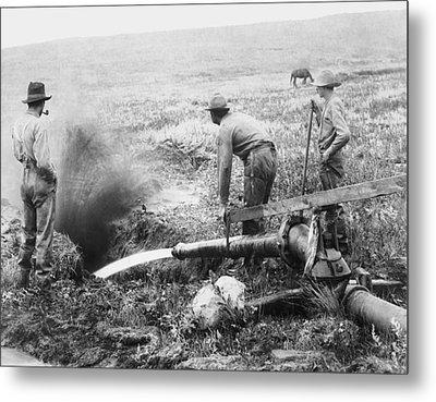 Hydraulic Gold Mining C. 1889 - S. Dakota Metal Print by Daniel Hagerman