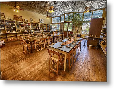 Metal Print featuring the tapestry - textile Hye Market General Store by Kathy Adams Clark