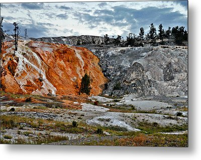 Hymen Terrace At Mammoth Hot Springs - Yellowstone National Park Wy Metal Print by Christine Till