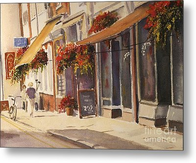Metal Print featuring the painting Hythe High Street by Beatrice Cloake