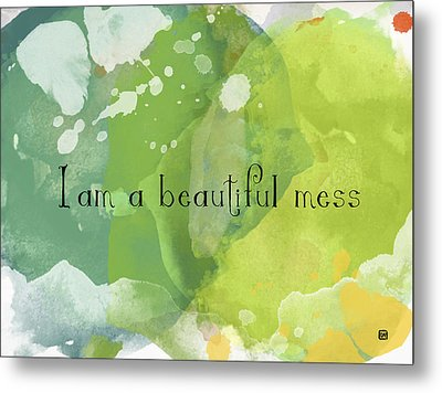 Metal Print featuring the painting I Am A Beautiful Mess by Lisa Weedn