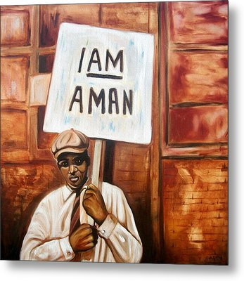 Metal Print featuring the painting I Am A Man by Emery Franklin