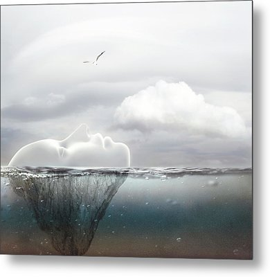 I Am An Island Metal Print by Jacky Gerritsen