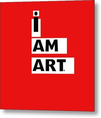 I Am Art Stripes- Design By Linda Woods Metal Print