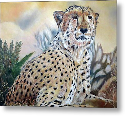 I Am Cheetah 2 Metal Print
