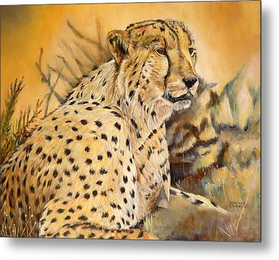 I Am Cheetah Metal Print by Marilyn  McNish