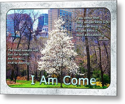 I Am Come Metal Print