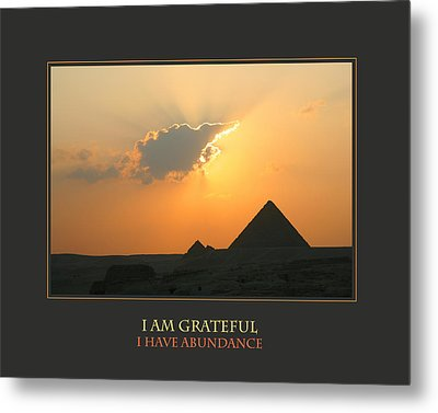 I Am Grateful I Have Abundance Metal Print by Donna Corless