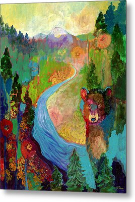 I Am The Mountain Stream Metal Print by Jennifer Lommers