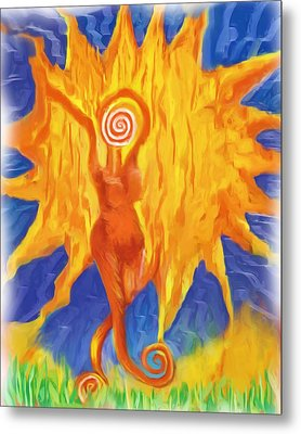 Metal Print featuring the painting I Am The Sun by Shelley Bain