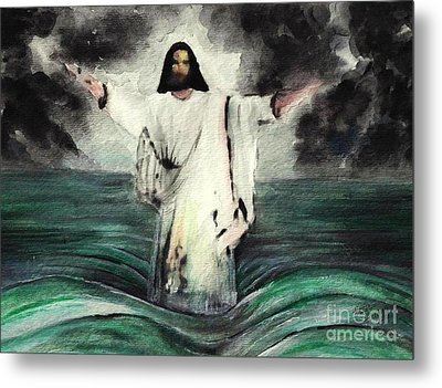 I Am Will Calm Your Sea Metal Print