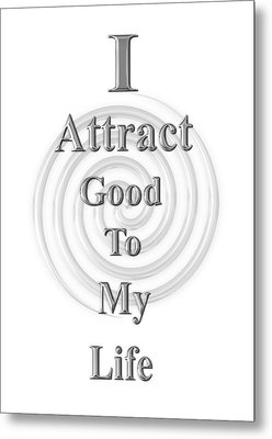 I Attract Silver Metal Print