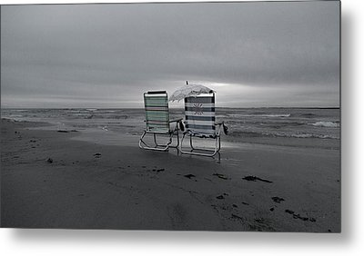 I Brought A Chair For You Metal Print