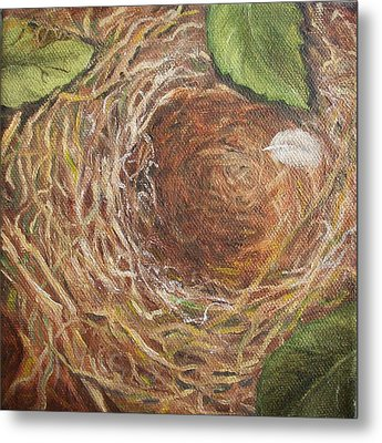 I Built You A Nest Metal Print by Irene Corey