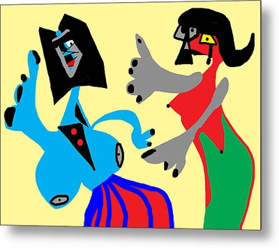 I Can Dance Like Picasso Metal Print by International Artist Brent Litsey