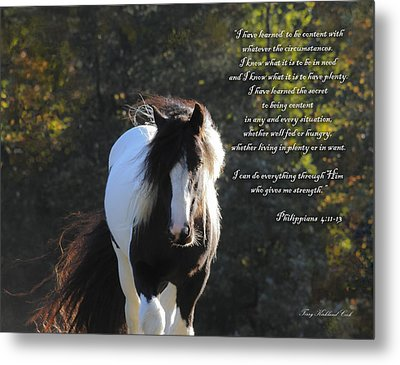 I Can Do All Things Metal Print by Terry Kirkland Cook