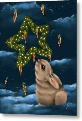 I Can Smell The Christmas In The Air Metal Print by Veronica Minozzi