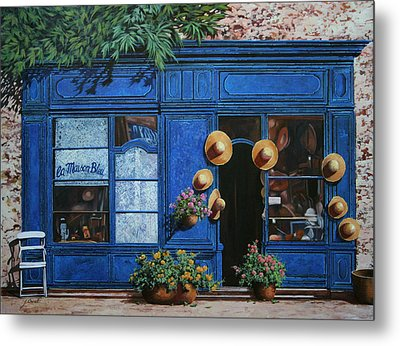 I Cappelli Gialli Metal Print by Guido Borelli