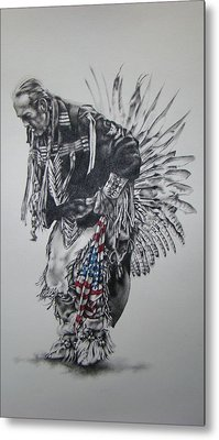 I Close My Eyes And Hear The Songs Of My Ancestors Metal Print by Michael Lee Summers