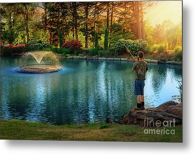 I Could Be Fishing Metal Print by Tamyra Ayles