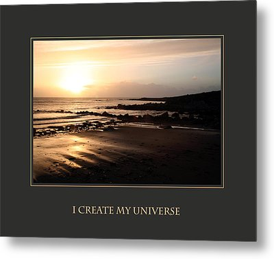 I Create My Universe Metal Print by Donna Corless
