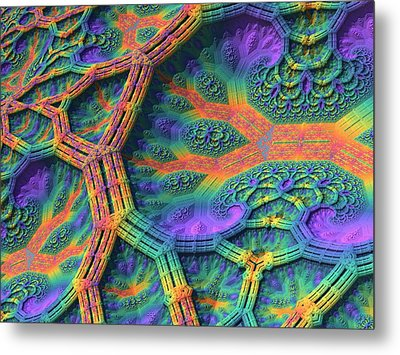 Metal Print featuring the digital art I Don't Do Drugs, Just Fractals by Lyle Hatch