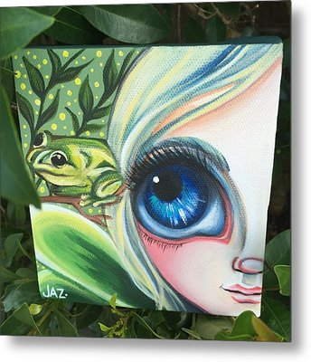 I Finished The Little Frog Fairy. I Metal Print by Jaz Higgins