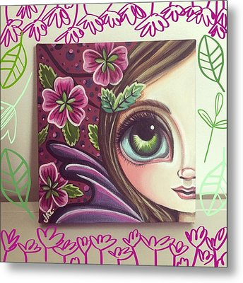 I Finished This Little Fairy This Metal Print by Jaz Higgins