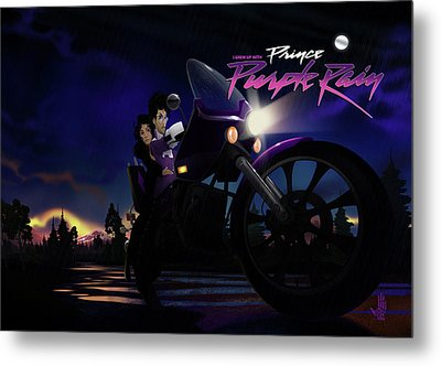 Metal Print featuring the digital art I Grew Up With Purplerain 2 by Nelson dedos Garcia