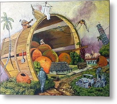 I Harvested Experience And Got Bitten Fruits Metal Print by Carlos Rodriguez Yorde