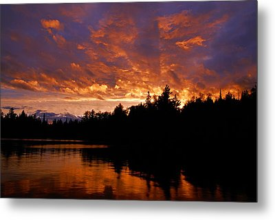 I Have Seen Rain And I Have Seen Fire Metal Print by Larry Ricker