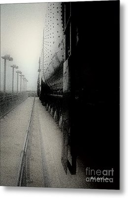 Metal Print featuring the drawing I Hear That Lonesome Whistle Blow by RC deWinter