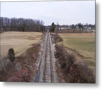 I Hear That Train A Comin' Metal Print by Adam Cornelison