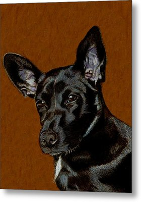 I Hear Ya - Dog Painting Metal Print