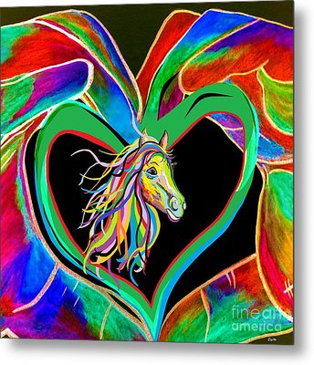 I Heart My Horse Metal Print by Eloise Schneider
