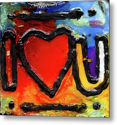 Metal Print featuring the painting I Heart You by Genevieve Esson