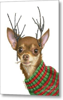 What Do You Mean Santa's Got Enough Reindeer? Metal Print