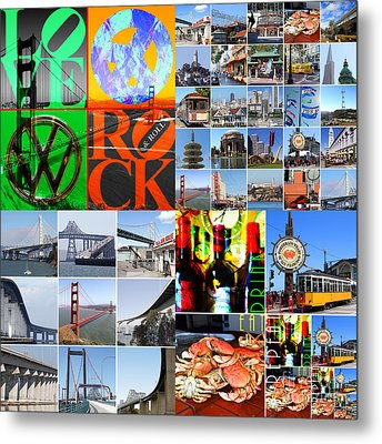 I Left My Heart In San Francisco 20140418 Metal Print by Wingsdomain Art and Photography