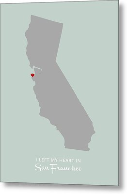 I Left My Heart In Sf Metal Print