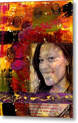 I Like Colors   What About You Metal Print by Angela L Walker