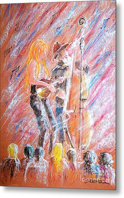 Metal Print featuring the painting I Love Bluegrass by Bill Holkham