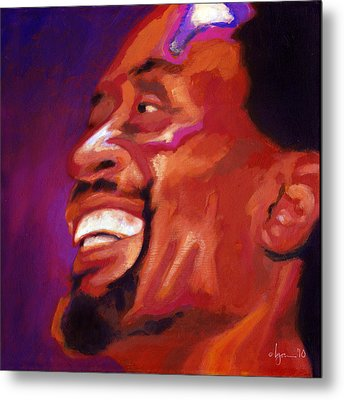 Metal Print featuring the painting I Love Bobby Mcferrin by Angela Treat Lyon