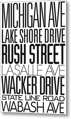 I Love Chicago Metal Print by Danny Justman