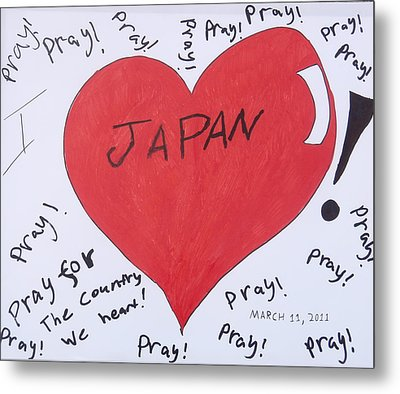I Love Japan By Erik Akerman Metal Print