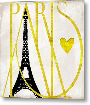 I Love Paris Metal Print by Mindy Sommers