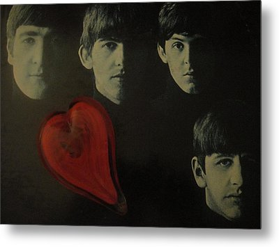 I Love The Early Beatles Music Metal Print