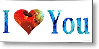 I Love You 10 - Heart Hearts Valentine's Day Romantic Art Metal Print