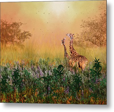 Metal Print featuring the photograph I Love You Mom by Diane Schuster